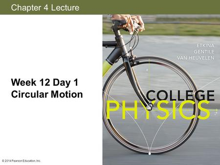 Week 12 Day 1 Circular Motion