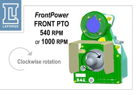 FrontPower FRONT PTO 540 RPM or 1000 RPM