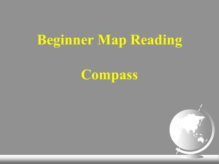 Beginner Map Reading Compass. Compass Parts of a Compass.