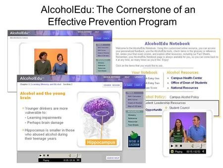 AlcoholEdu: The Cornerstone of an Effective Prevention Program.