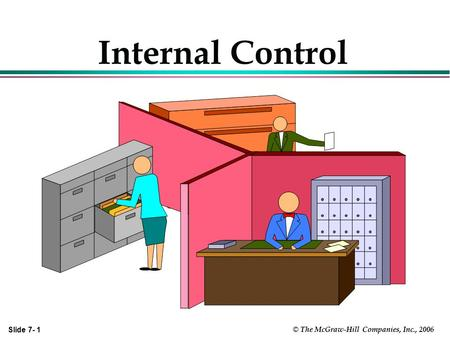 Internal Control Chapter 7 covers two distinct, but related topics: