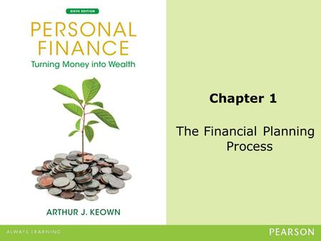 The Financial Planning Process Chapter 1. © 2013 Pearson Education, Inc. All rights reserved.1-2 Learning Objectives 1.Explain why personal financial.