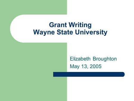 Fundamental principles of writing a successful grant proposal