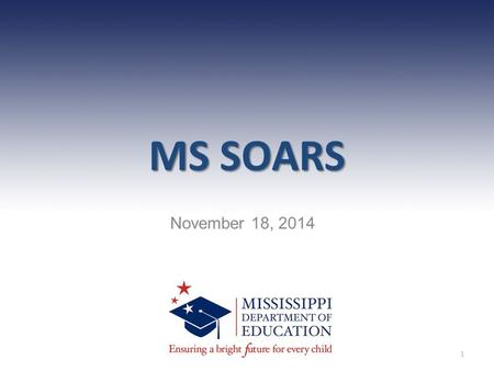 MS SOARS November 18, 2014 1. Agenda Overview Indicators Wise Ways Expectations Upcoming training 2.