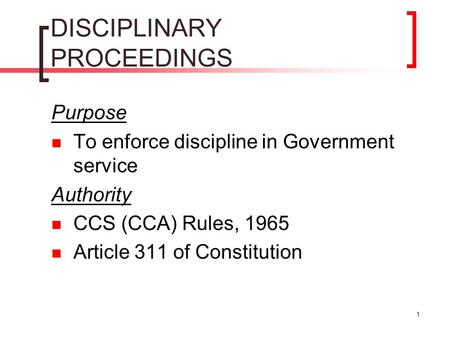 DISCIPLINARY PROCEEDINGS