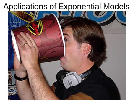 Applications of Exponential Models. In humans, caffeine acts as a central nervous system stimulant, temporarily warding off drowsiness and restoring alertness.central.