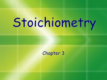 Stoichiometry Chapter 3. Atomic Mass Atoms are so small, it is difficult to weigh in grams (Use atomic mass units) Atomic mass is a weighted average of.
