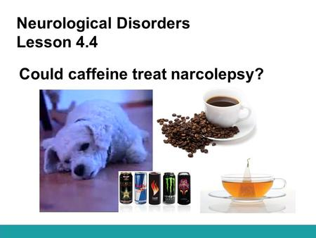 Neurological Disorders Lesson 4.4 Could caffeine treat narcolepsy?