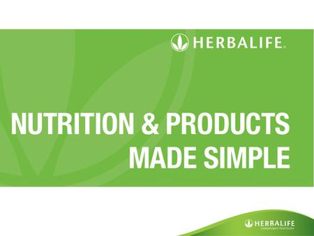 Science Video. Science Video The Herbalife commitment to science and nutrition Award-winning scientists and leading experts in the field of nutrition.