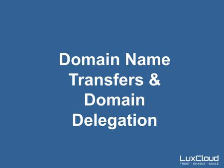 .| The Trusted Channel Centric Marketplace Domain Name Transfers & Domain Delegation.