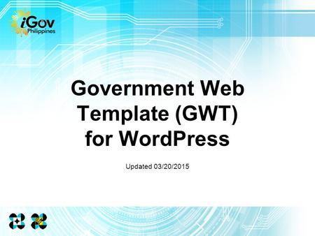 Government Web Template (GWT) for WordPress Updated 03/20/2015.