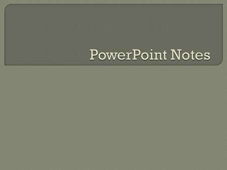  PowerPoint is a presentation graphics program that lets you create slide shows you can present by showing the slides on a computer or projection screen.