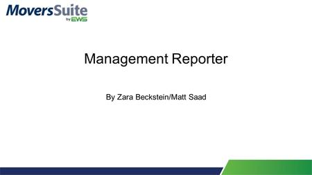 Management Reporter By Zara Beckstein/Matt Saad. Basic Navigation Similar to GP 2013 R2 windows, there is a Navigation Pane in the lower left. This will.