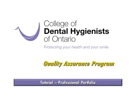 Quality Assurance Program Tutorial – Professional Portfolio.