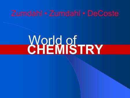 Zumdahl Zumdahl DeCoste CHEMISTRY World of. Chapter 4 Nomenclature.