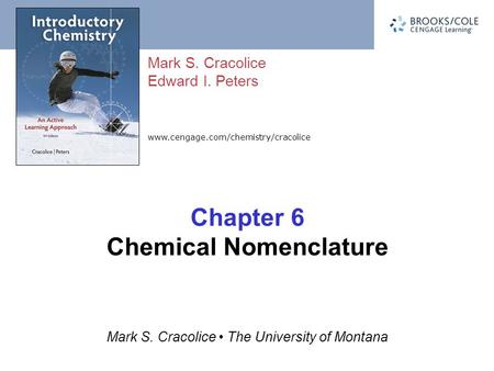 Chapter 6 Chemical Nomenclature