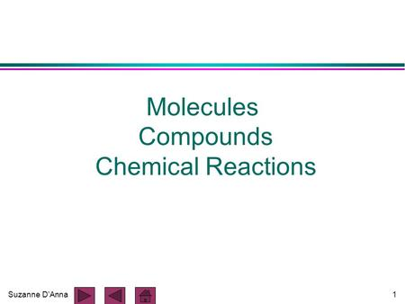 Suzanne D'Anna1 Molecules Compounds Chemical Reactions.