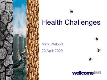 Health Challenges Mark Walport 29 April 2009. Global environmental change A complex web From: Global Environmental Change and Human Health (McMichael,