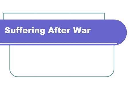 Suffering After War. Critical Lens The political conflict in Afghanistan and Rwanda. Afghanistan Rwanda.