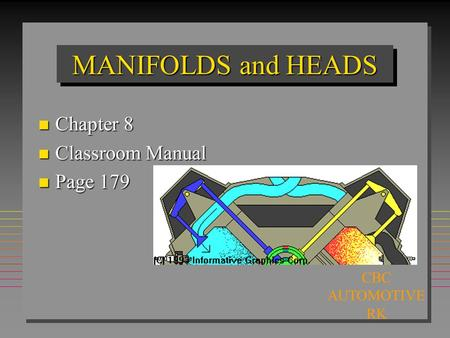 MANIFOLDS and HEADS n Chapter 8 n Classroom Manual n Page 179 CBC AUTOMOTIVE RK.