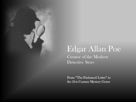 a report on the detective stories of edgar allan poe Read edgar allan poe's detective stories and murderous tales - a collection of short stories (fantasy and horror classics) by edgar allan poe with rakuten kobo these early works by edgar allan poe were originally published in the early 19th century.