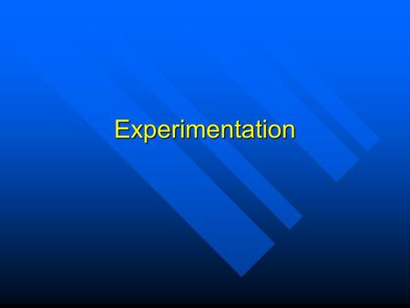 Experimentation. Variables Variable = an aspect of events or things that differs according to the particular event or thing being considered but has a.