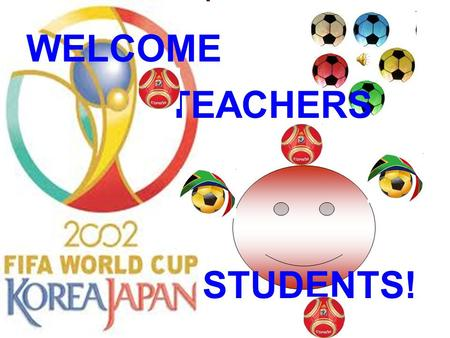 WELCOME TEACHERS STUDENTS! Match the pictures with their names. 1 A.<strong>badminton</strong> B.swimming C.tennisD.shooting E.football F.billiard 2 3 4 5 6.