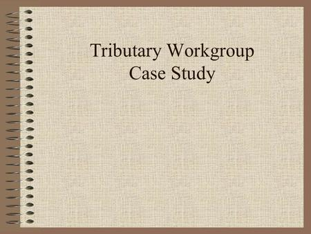 Tributary Workgroup Case Study. Outline for presentation Why Coordinate? Approach of SW Tributary workgroup SW Tributary Workgroup progress and next steps.