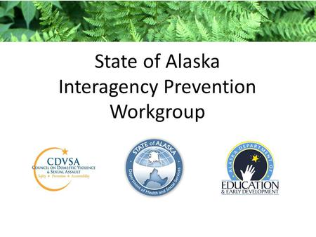 State of Alaska Interagency Prevention Workgroup.