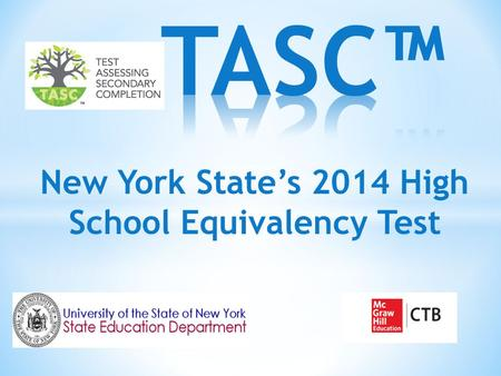 New York State's 2014 High School Equivalency Test.