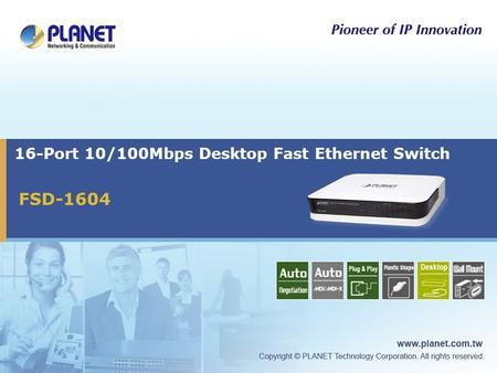 16-Port 10/100Mbps Desktop Fast Ethernet Switch FSD-1604.