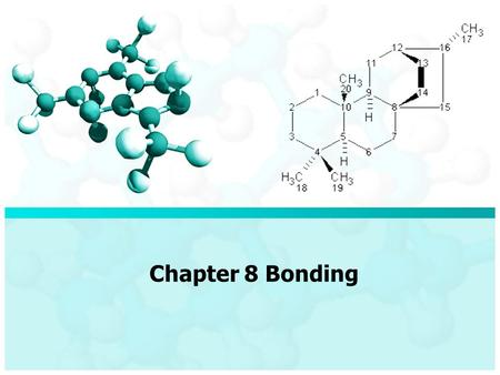 Chapter 8 Bonding. 8.1 Types of Bonds There are lots of experiments we can do to determine the nature of materials – Melting point – Conductivity – Solubility.