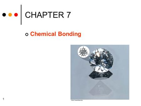 1 CHAPTER 7 Chemical Bonding. 2 Chapter Goals 1. Lewis Dot Formulas of Atoms Ionic Bonding 2. Formation of Ionic Compounds Covalent Bonding 3. Formation.