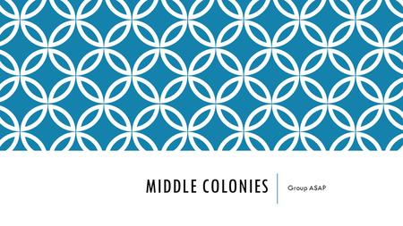 MIDDLE COLONIES Group ASAP. COLONIES New York Pennsylvania New Jersey Delaware.