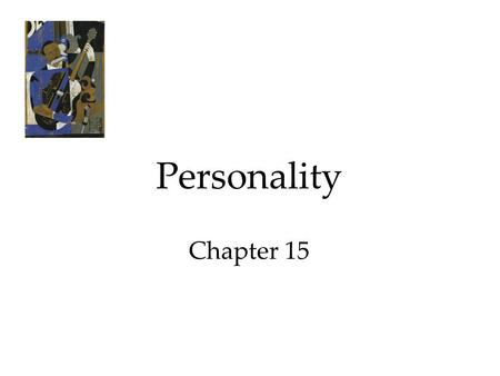 Personality Chapter 15.