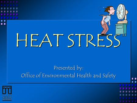 HEAT STRESS Presented by: Office of Environmental Health and Safety.