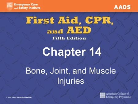 Chapter 14 Bone, Joint, and Muscle Injuries. Bone Injuries Fracture and broken bone both mean a break or crack in the bone. Two categories: Closed (simple)