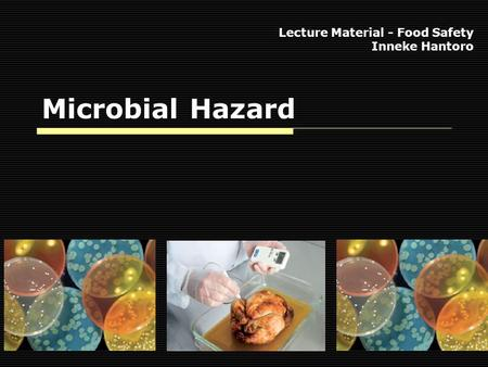Microbial Hazard Lecture Material - Food Safety Inneke Hantoro.
