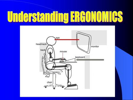 What is Ergonomics? ____________________ is the study of how the physical health of workers is affected by their workplace Ergonomics deals with; 1. Temperature.