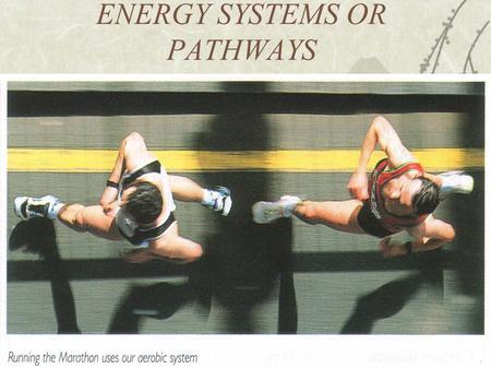 ENERGY SYSTEMS OR PATHWAYS. EATING FOR ENERGY Energy for Exercise  The food is broken down into soluble chemicals (e.g. glucose) by digestion in the.