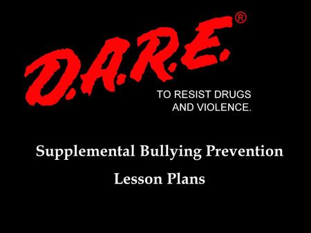 Supplemental Bullying Prevention