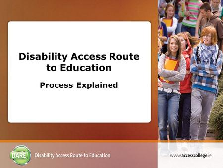Disability Access Route to Education Process Explained.
