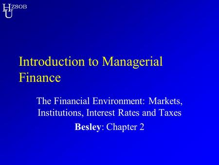 Introduction to Managerial Finance
