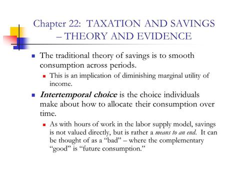 Taxation Theory