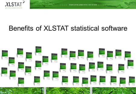 Benefits of XLSTAT statistical software. Easy to get started with  Microsoft Excel is the most used spreadsheet worldwide.  XLSTAT dialog boxes approach.