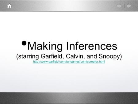 Making Inferences (starring Garfield, Calvin, and Snoopy)