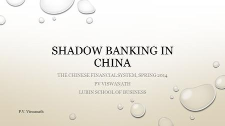 Shadow <strong>banking</strong> in china