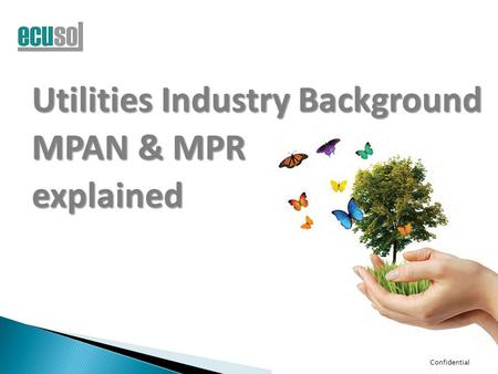 Confidential Utilities Industry Background MPAN & MPR explained.