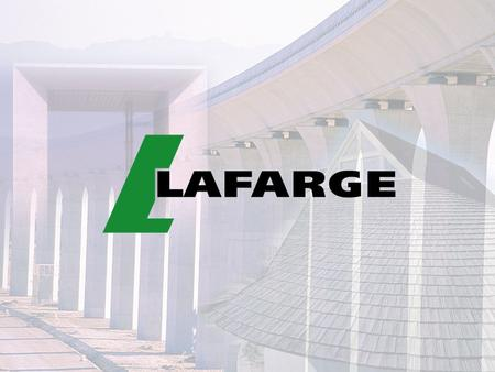 Lafarge and Climate Change Chris Boyd 3 September 2002 Climate change and emissions trading CHRISTOPHER BOYD n Joined Lafarge in 1999 (Environment and.