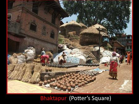 Bhaktapur (Potter's Square) Bricks are used to built a street.